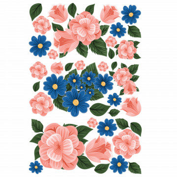 Set stickere decorative perete - Flori 7, 60x90cm