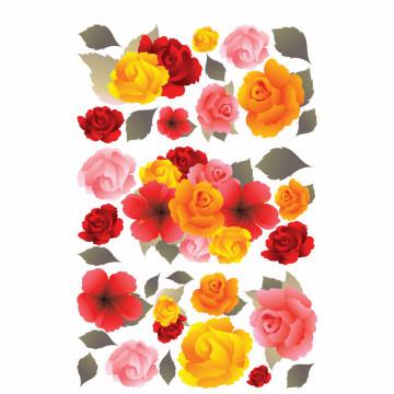 Set stickere decorative perete - Floricele, 60x90cm