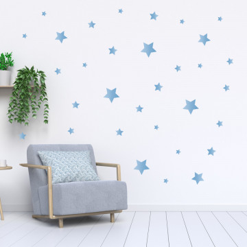 Set stickere decorative perete - Stelute 1, 60x60cm