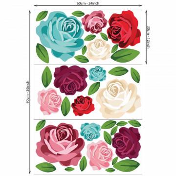 Set stickere decorative perete - Trandafiri colorati, 60x90cm