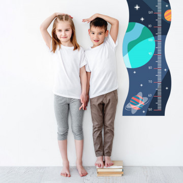 Sticker perete Masurator pentru copii - Cosmos, 40x120 cm