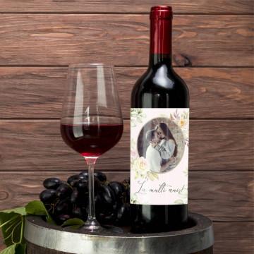 Sticla vin Personalizata - Poza si mesaj