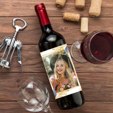 Sticla vin Personalizata - Poza