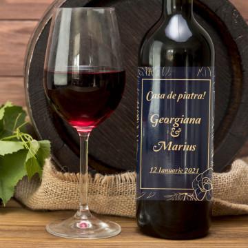 Sticla vin Personalizata - Text, nume si data