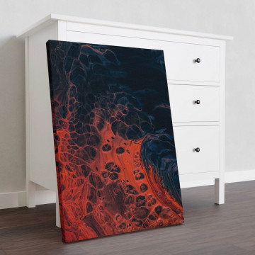 Tablou Canvas, Red and black