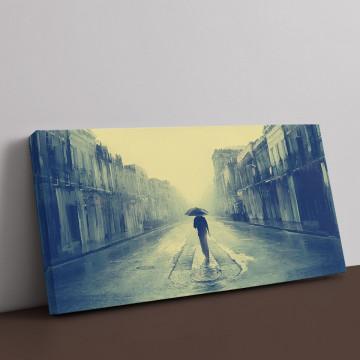 Tablou Canvas, Singur pe strada