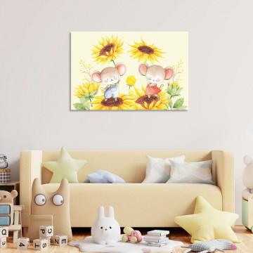 Tablou Canvas, Soriceii cu Flori