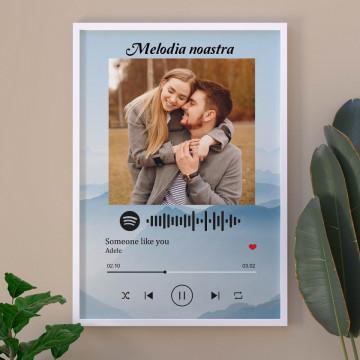 "Tablou personalizat ""Melodia noastra"", cod Spotify, Peisaj de munte"