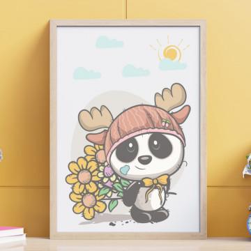 Tablou - Ursuletul cu flori