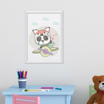 Tablou - Ursuletul panda cu avionul