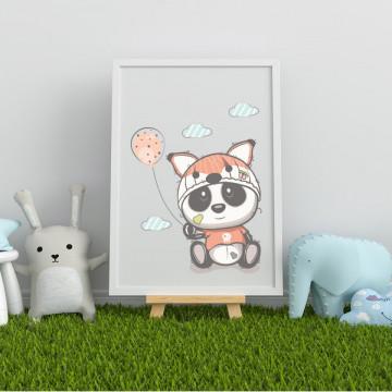 Tablou - Ursuletul panda cu balon