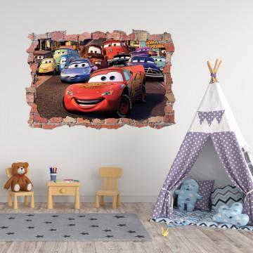 3D Sticker perete 60x90cm - Cars 3