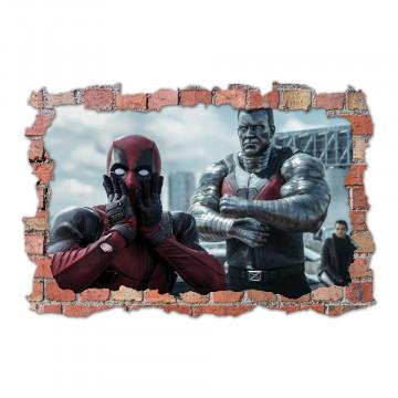 3D Sticker perete 60x90cm - Deadpool 2