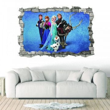 3D Sticker perete 60x90cm - Frozen