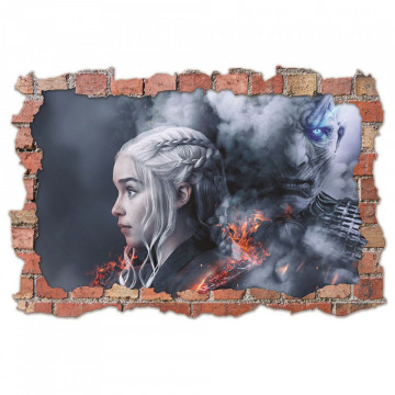 3D Sticker perete 60x90cm - Game of Thrones