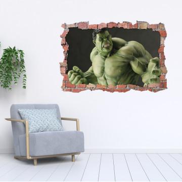 3D Sticker perete 60x90cm - Hulk