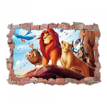 3D Sticker perete 60x90cm - Lyon King