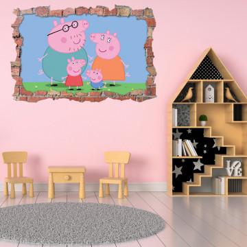 3D Sticker perete 60x90cm - Peppa Pig