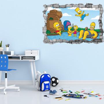 3D Sticker perete 60x90cm - Simson