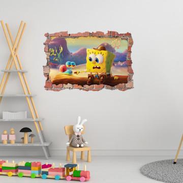3D Sticker perete 60x90cm - Spongebob2