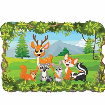 3D Sticker perete - Animale salbatice12