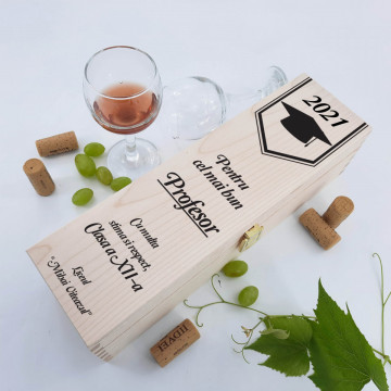 Cutie vin personalizata - Absolvire