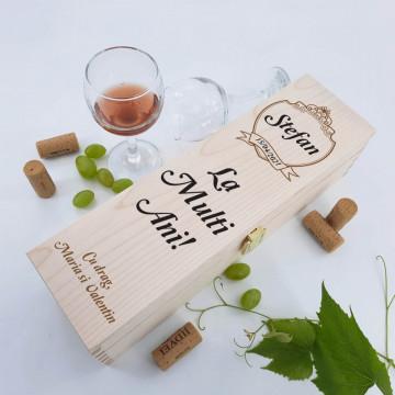 Cutie vin personalizata - Numele sarbatoritului