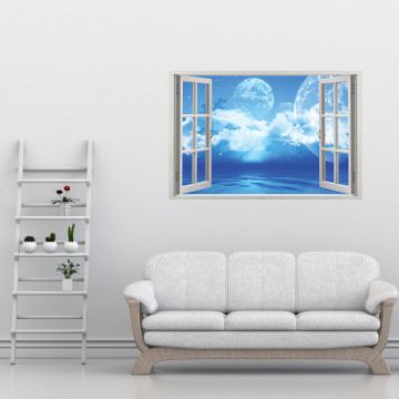Fereastra 3D, Sticker perete - Peisaj cosmic