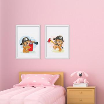 Set 2 tablouri - Ursuletii Pompieri