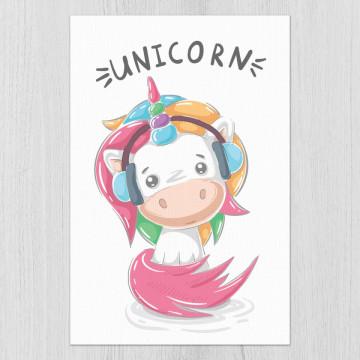 Set 3 tablouri - Dinozaurul si Unicornii