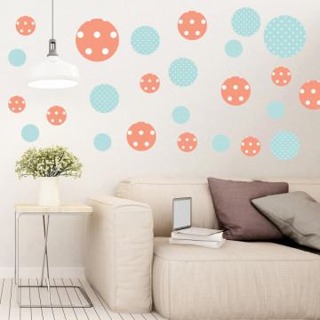 Set stickere decorative perete - Cercuri2, 60x60cm