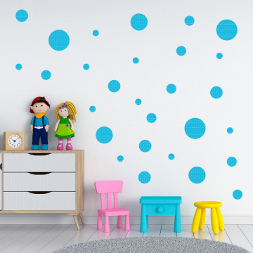 Set stickere decorative perete - Cercuri20, 60x60cm