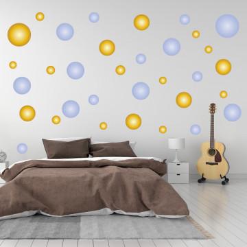 Set stickere decorative perete - Cercuri7, 60x60cm