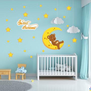 Set stickere decorative perete copii - Sweet dreams5 , 60x60 cm