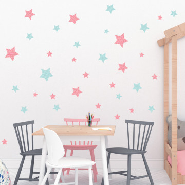 Set stickere decorative perete - Stelute 11, 60x60cm
