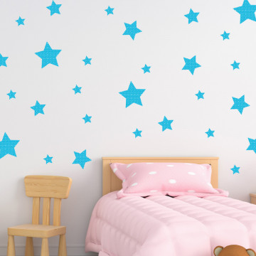 Set stickere decorative perete - Stelute 14, 60x60cm
