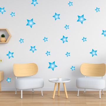 Set stickere decorative perete - Stelute 4, 60x60cm