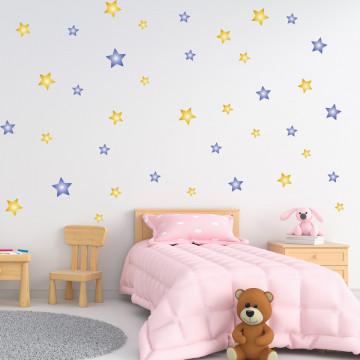 Set stickere decorative perete - Stelute 6, 60x60cm