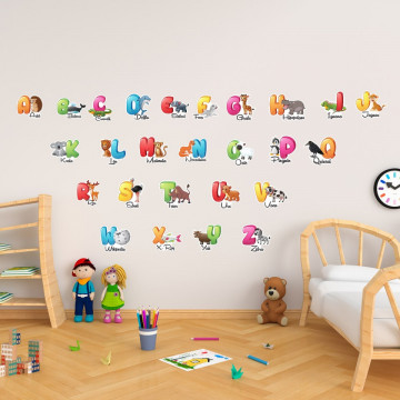 Stickere Educationale copii - Alfabet, set 40x60cm