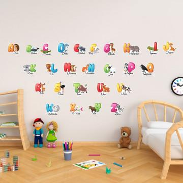 Stickere Educationale copii - Alfabet, set 40x60cm