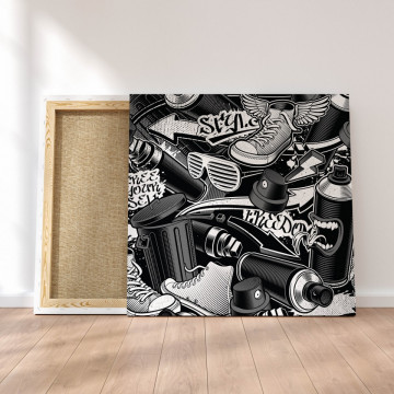 Tablou Canvas, Black graffiti
