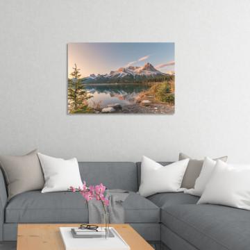 Tablou Canvas, Munte & Lac