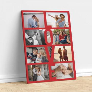 Tablou Canvas personalizat cu 8 poze - Love