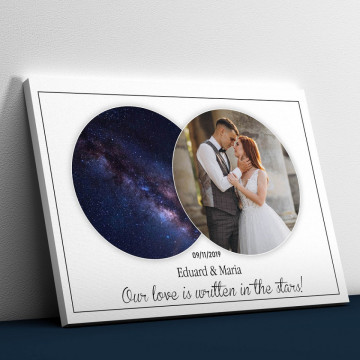 """Tablou Canvas personalizat """"Harta Stelelor"""" - Our love is written in the stars"""