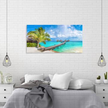 Tablou Canvas, Plaja exotica