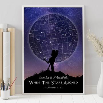 Tablou personalizat Harta Stelelor - When the stars aligned