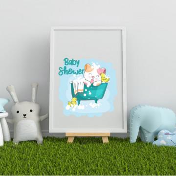 Tablou - Pisicuta Baby Shower
