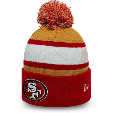 Caciula New Era Striped Cuff Bobble Knit San Francisco 49ERS