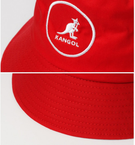Palarie rosie Kangol Cotton Bucket 5