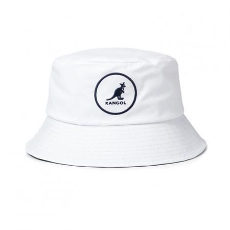 Palarie alba Kangol Cotton Bucket